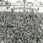 Over 5000 demonstrerte i Oslo mot Fellesmarkedet i 1962. Foto: Stig Næss. Eier: Oslo Museum