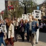 Demonstrasjon i Oslo i 1994. Eier: Nei til EU