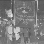 Demonstrasjon i Tromsø, 1994. Utklipp fra avisa Nordlys
