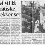 Daværende statsminister med dommedagsprofetier. Fra Adressavisa 1994 .