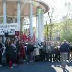 Fra 1. mai i Birkelunden 2012. Foto: Ellen Røsjø