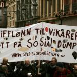 Fra 1. mai-demonstrasjon i Oslo 2014. Foto: Gudmund Dalsbø