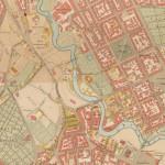 Kart fra 1900 fra Oppmålings- vesenet. Eier: Oslo byarkiv.