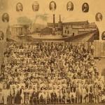 Christiania Seildugsfabrik (1856) var den største industriarbeidsplassen i landet med 900 ansatte, hovedsaklig kvinner. Eier: Norsk folkemuseum