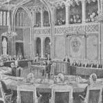 Riksretten i 1884. Tegning av Lorentz Norberg. Eier: Norsk folkemuseum