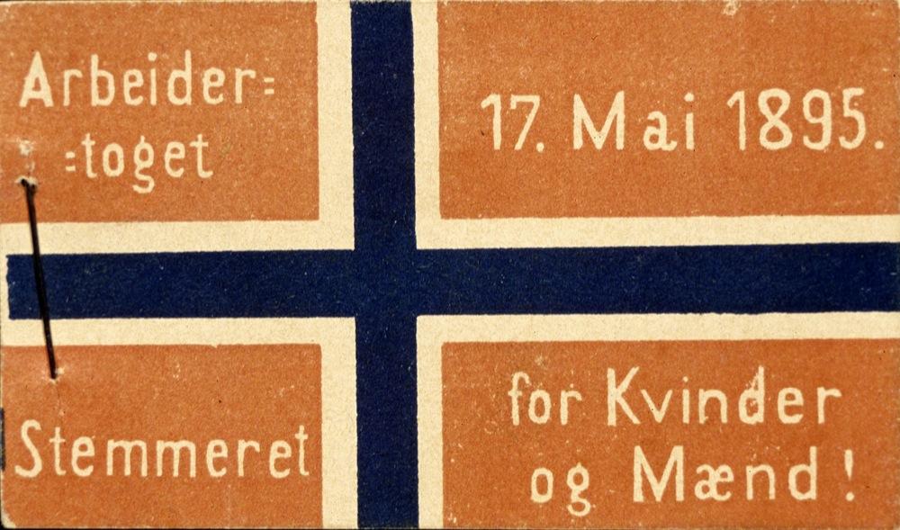 17. mai-merke fra 1895 Eier: Arbark