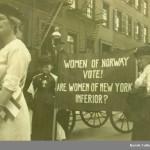 Norske kvinners stemmerett ble et argument i kampen for kvinnestemmerett i USA. Eier: Norsk folkemuseum