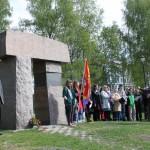 Monumentet i Birkelunden. 1.mai markering 2012. Foto: Ellen Røsjø