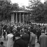 Valgmøte i Birkelunden, 1937. Eier: Arbark