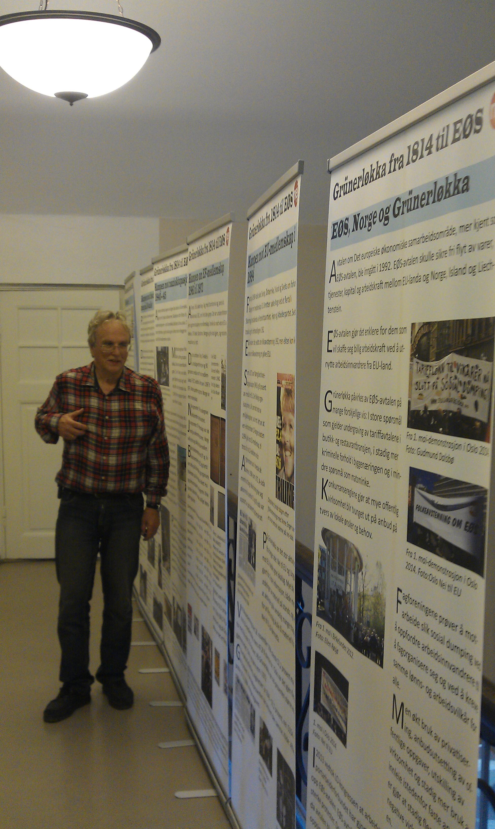Deler av utstillinga på Deichmanske bibliotek