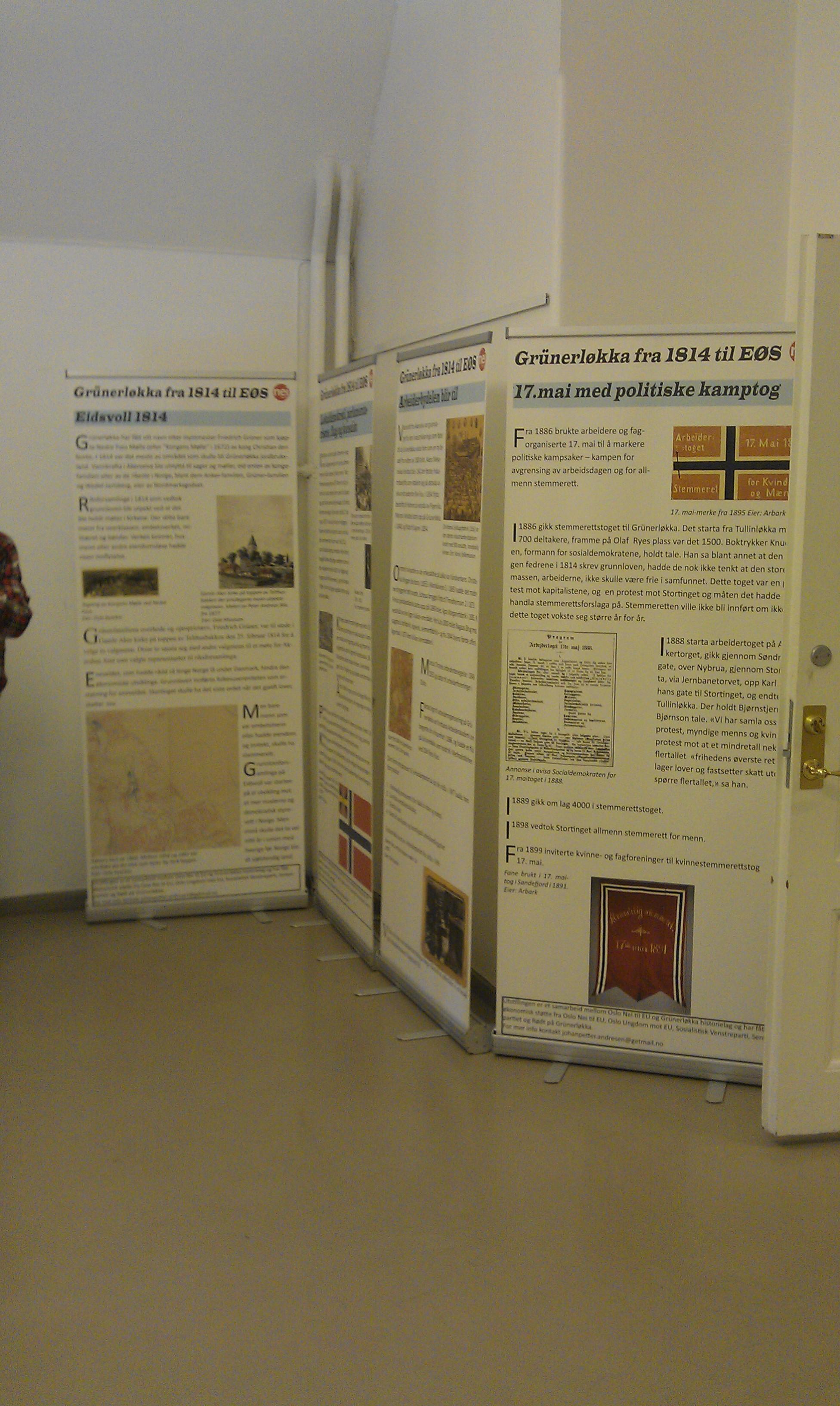 Første del av utstillinga på Deichmanske bibliotek